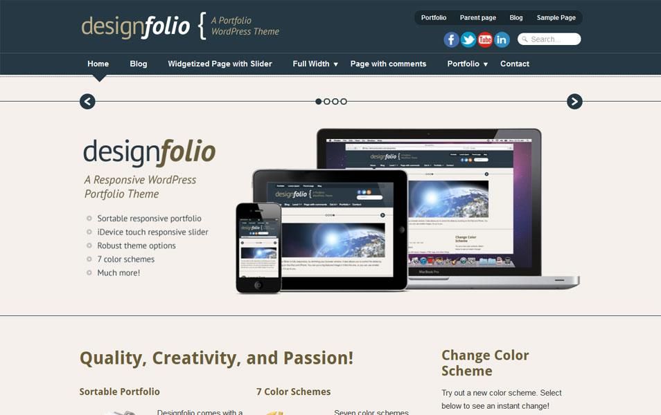 دانلود قالب وردپرس Designfolio