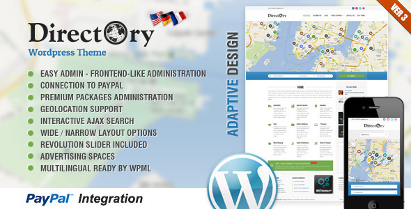 دانلود قالب وردپرس Directory Portal