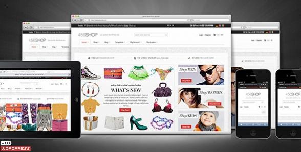 دانلود قالب وردپرس 456Shop eCommerce
