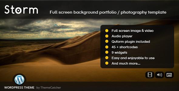 دانلود قالب وردپرس Full Screen Background