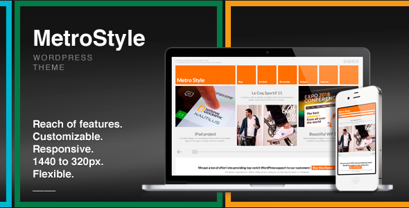 دانلود قالب وردپرس MetroStyle Responsive All Purpose Wordpress