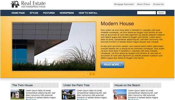 دانلود قالب وردپرس املاک Real Estate