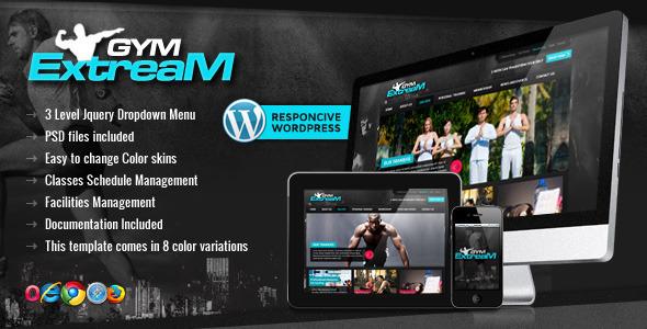 دانلود قالب وردپرس سایت باشگاه بدنسازی Gym Extream