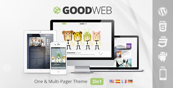 دانلود قالب تک صفحه ای و چندمنظوره وردپرس GoodWeb