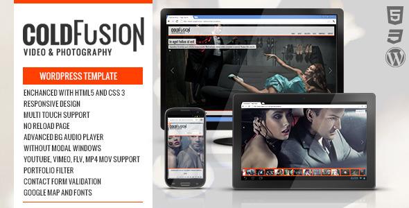 دانلود قالب وردپرس تمام صفحه فیلم و عکس ColdFusion