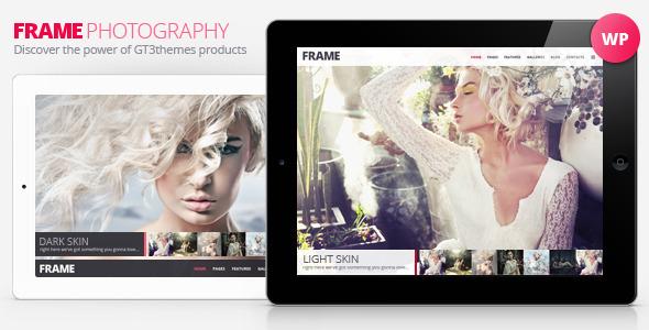 دانلود قالب وردپرس عکاسی Frame