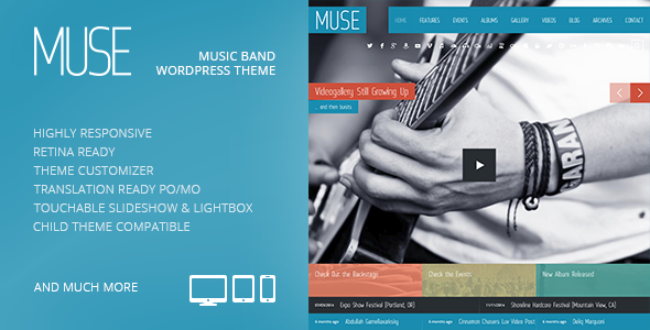 دانلود قالب وردپرس موزیک Muse