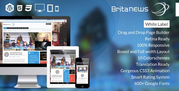 دانلود قالب خبری وردپرس BritaNews