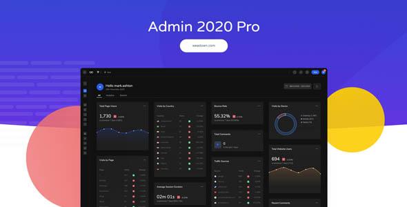 دانلود افزونه وردپرس ناحیه مدیریت Admin 2020 Pro