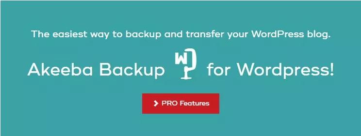 دانلود افزونه وردپرس تهیه نسخه پشتیبان Akeeba Backup Pro
