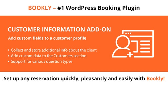 دانلود ادآن وردپرس Bookly Customer Information