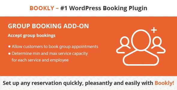 دانلود ادآن وردپرس رزرو گروهی Bookly Group Booking