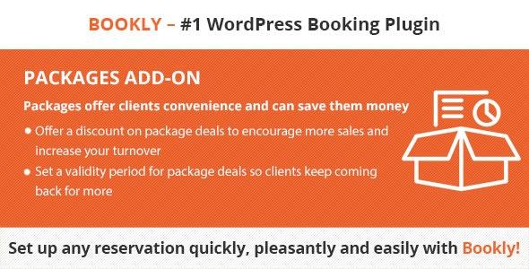 دانلود ادآن وردپرس ارائه پکیج Bookly Packages