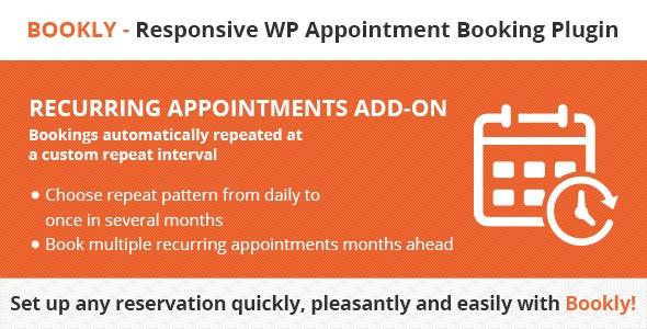 دانلود ادآن وردپرس بوکلی Bookly Recurring Appointments