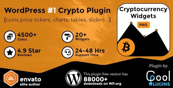 دانلود افزونه وردپرس کریپتو کارنسی Cryptocurrency Widgets Pro
