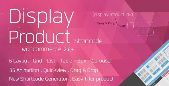 دانلود افزونه ووکامرس نمایش محصولات Display Product