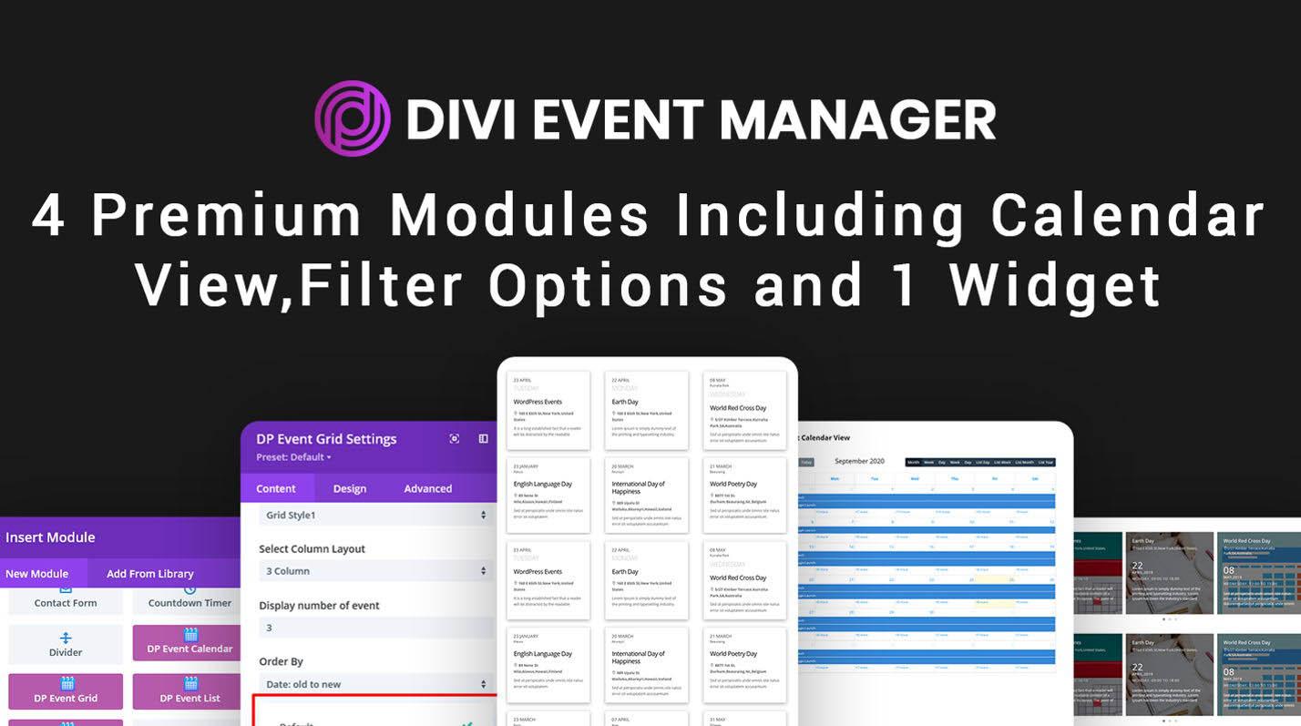 دانلود افزونه وردپرس مدیریت رویداد Divi Event Manager