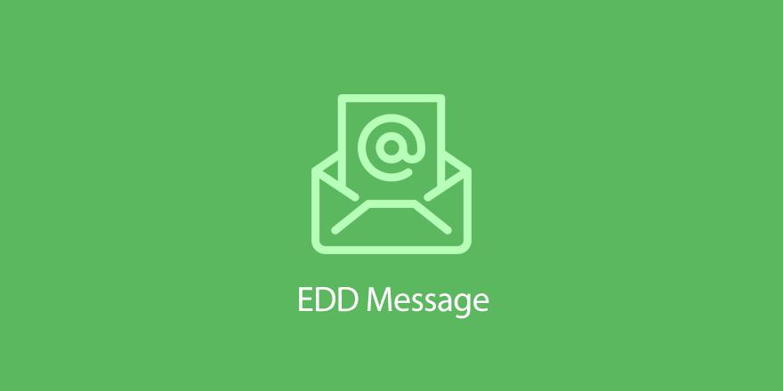 دانلود افزونه وردپرس ارسال پیام های اختصاصی EDD Message