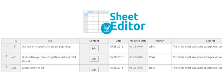 دانلود افزونه وردپرس ویرایش گروهی WP Sheet Editor Users