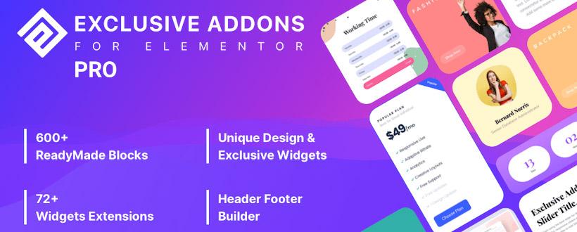 دانلود افزونه وردپرس Exclusive Addons Pro برای المنتور