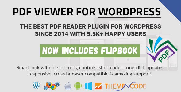دانلود افزونه وردپرس نمایش فایل پی دی اف PDF viewer