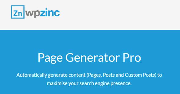 دانلود افزونه وردپرس تولید گروهی نوشته Page Generators Pro