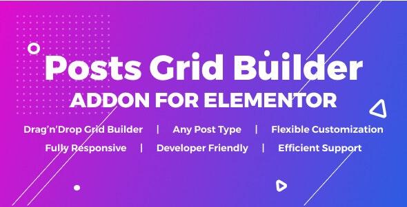 دانلود افزونه وردپرس Posts Grid Builder برای المنتور