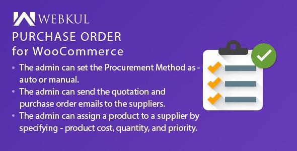 دانلود افزونه ووکامرس Purchase Order Plugin for WooCommerce