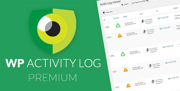 دانلود افزونه وردپرس بررسی لاگ WP Activity Log Premium