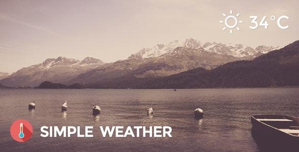دانلود افزونه وردپرس وضعیت آب و هوا Simple Weather