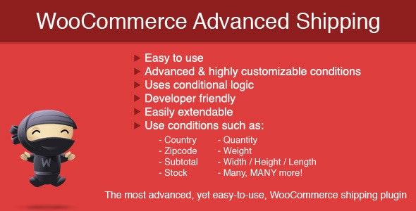 دانلود افزونه ووکامرس WooCommerce Advanced Shipping