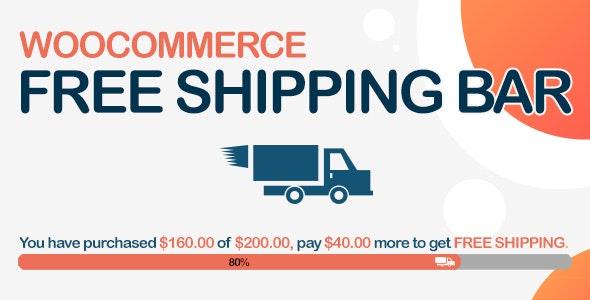 دانلود افزونه ووکامرس WooCommerce Free Shipping Bar