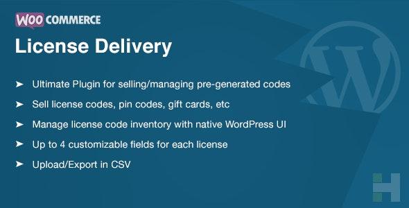 دانلود افزونه ووکامرس License Delivery & Management