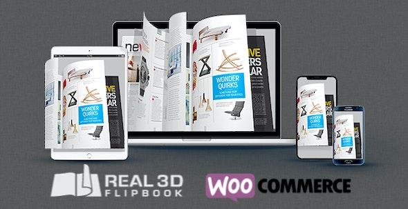 دانلود افزونه ووکامرس WooCommerce Real3D Flipbook Addon