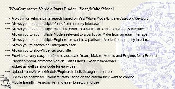 دانلود افزونه ووکامرس WooCommerce Vehicle Parts Finder