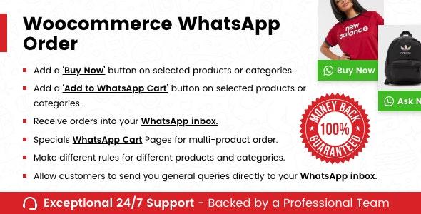دانلود افزونه ووکامرس WooCommerce Whatsapp Order