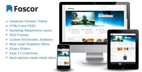 دانلود قالب HTMLسایت Foscor – Interactive Parallax