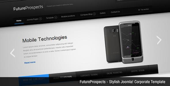 دانلود قالب جوملا FutureProspects Stylish Corporate