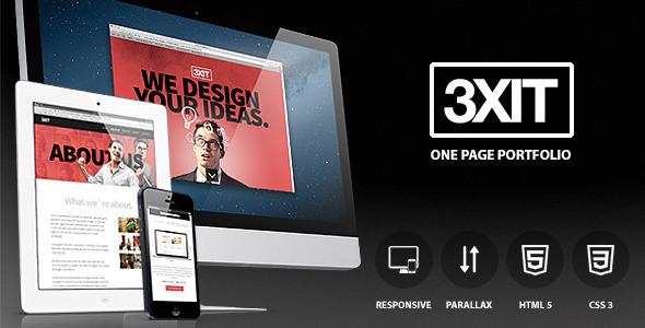 دانلود قالب HTMLسایت Exit - parallax single page portfolio