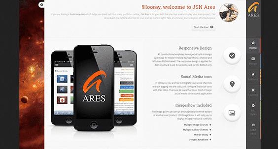 دانلود قالب جوملا JSN Ares Pro