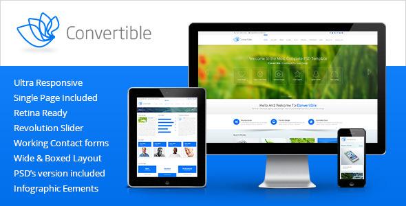 دانلود قالبHTML سایت Convertible