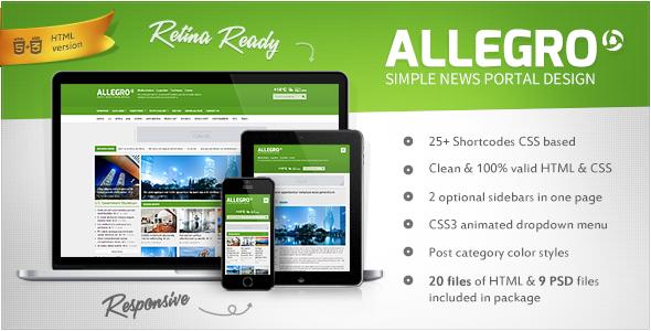 دانلود قالب HTML سایت Allegro