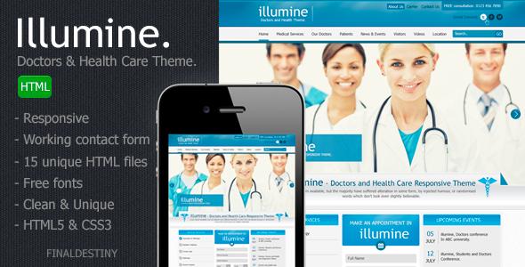 دانلود قالب HTML پزشکی Illumine