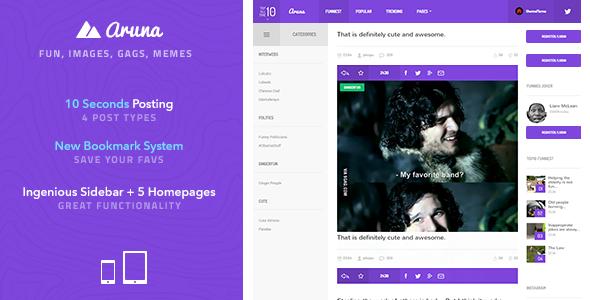 دانلود قالب HTML اشتراک گذاری Aruna