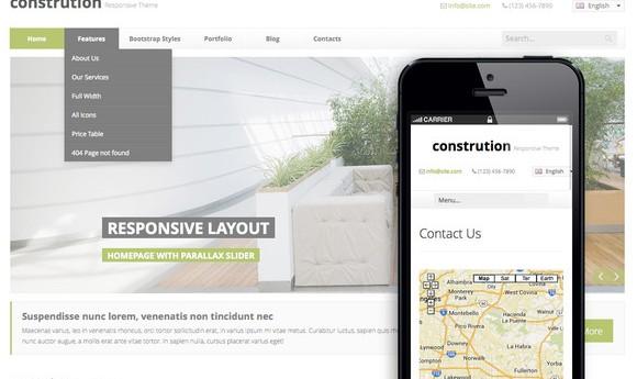 دانلود قالب HTML سایت Construction