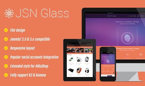 دانلود قالب فروشگاهی جوملا JSN Glass