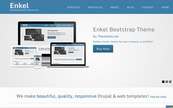دانلود قالب HTML بوت استرپ Enkel