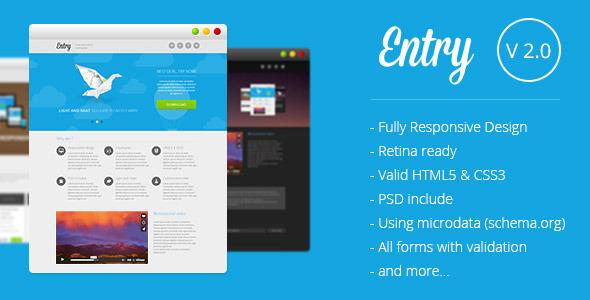 دانلود قالب HTML سایت Entry