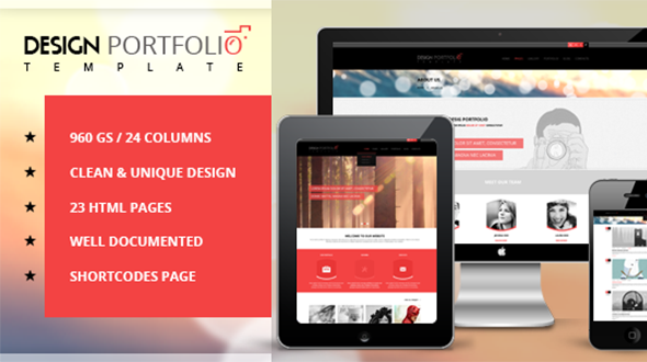 دانلود قالب HTML سایت Design Portfolio