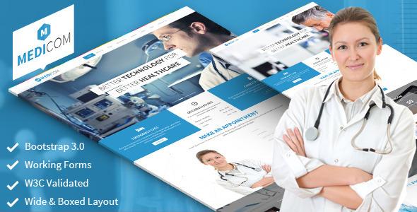 دانلود قالب HTML پزشکی و سلامتی Medicom